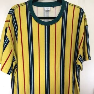 Urban outfitters yellow stripe t-shirt